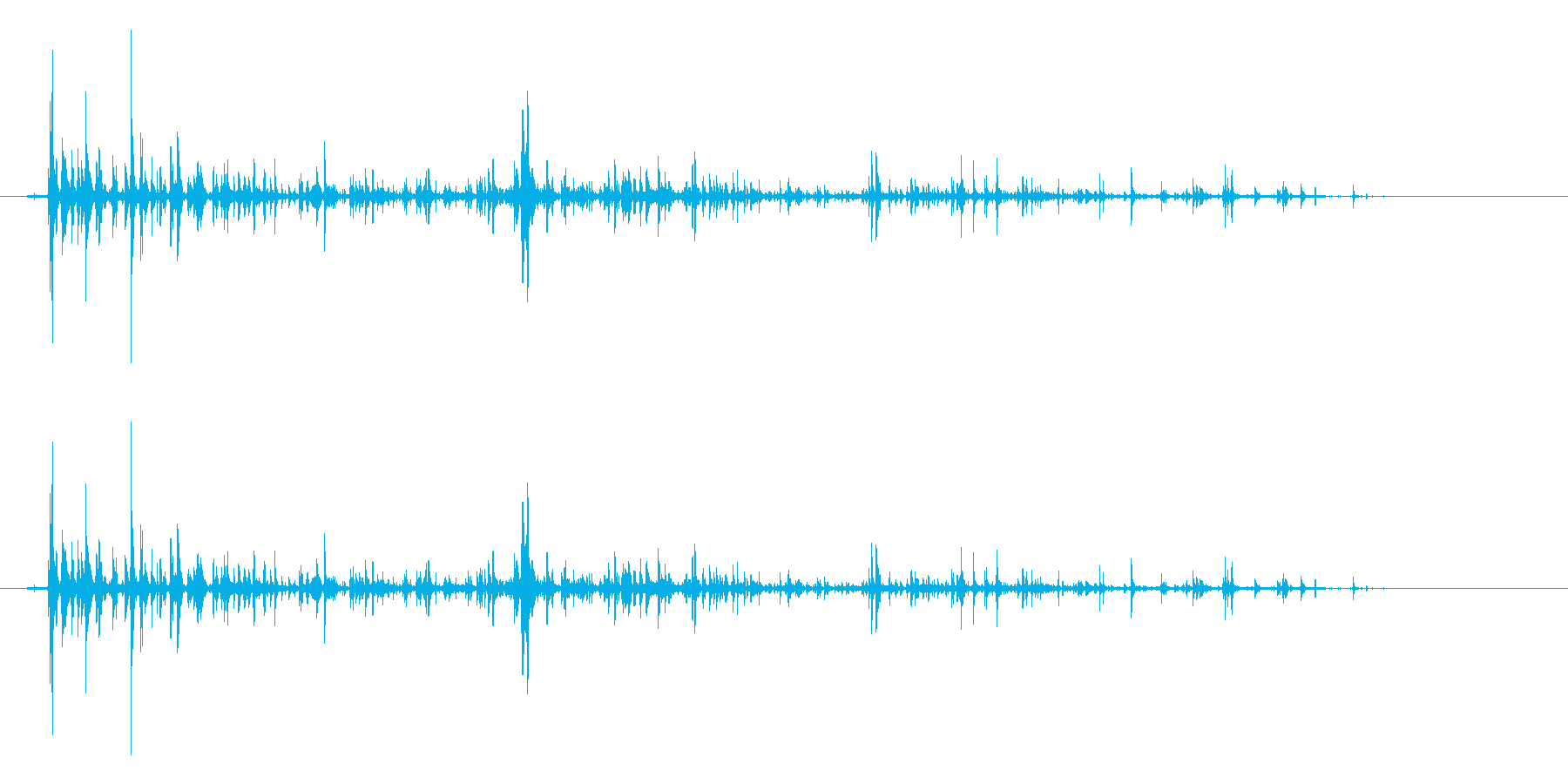 チョロロロの再生済みの波形