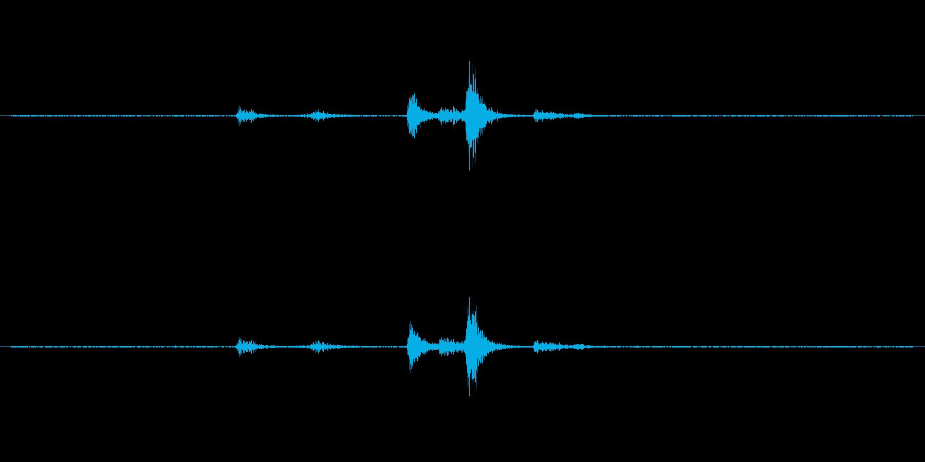 食器(プラスチック製)の音ですの再生済みの波形