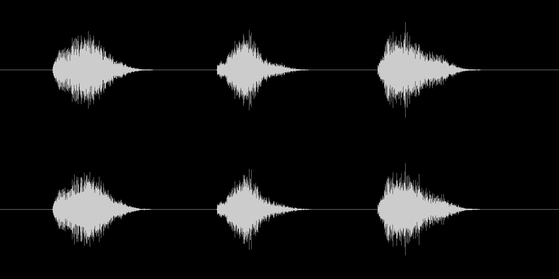 ゲーム等、開始前カウント(3-2-1)Fの未再生の波形