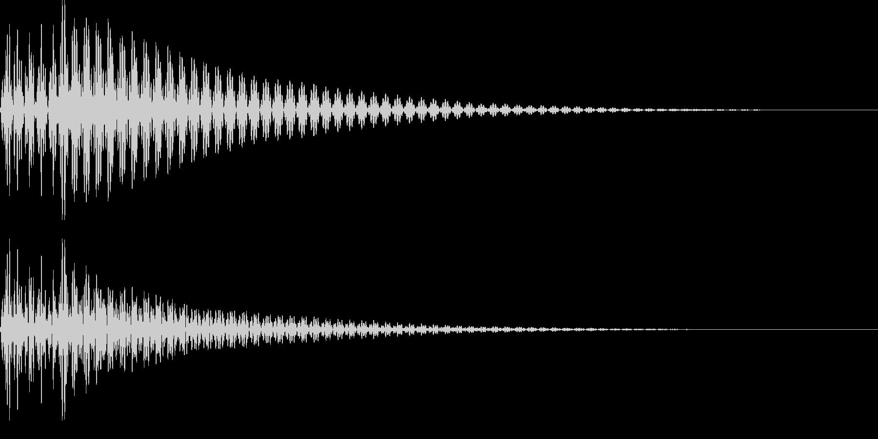 デデーン(がっかり、ハープ、ミス)の未再生の波形