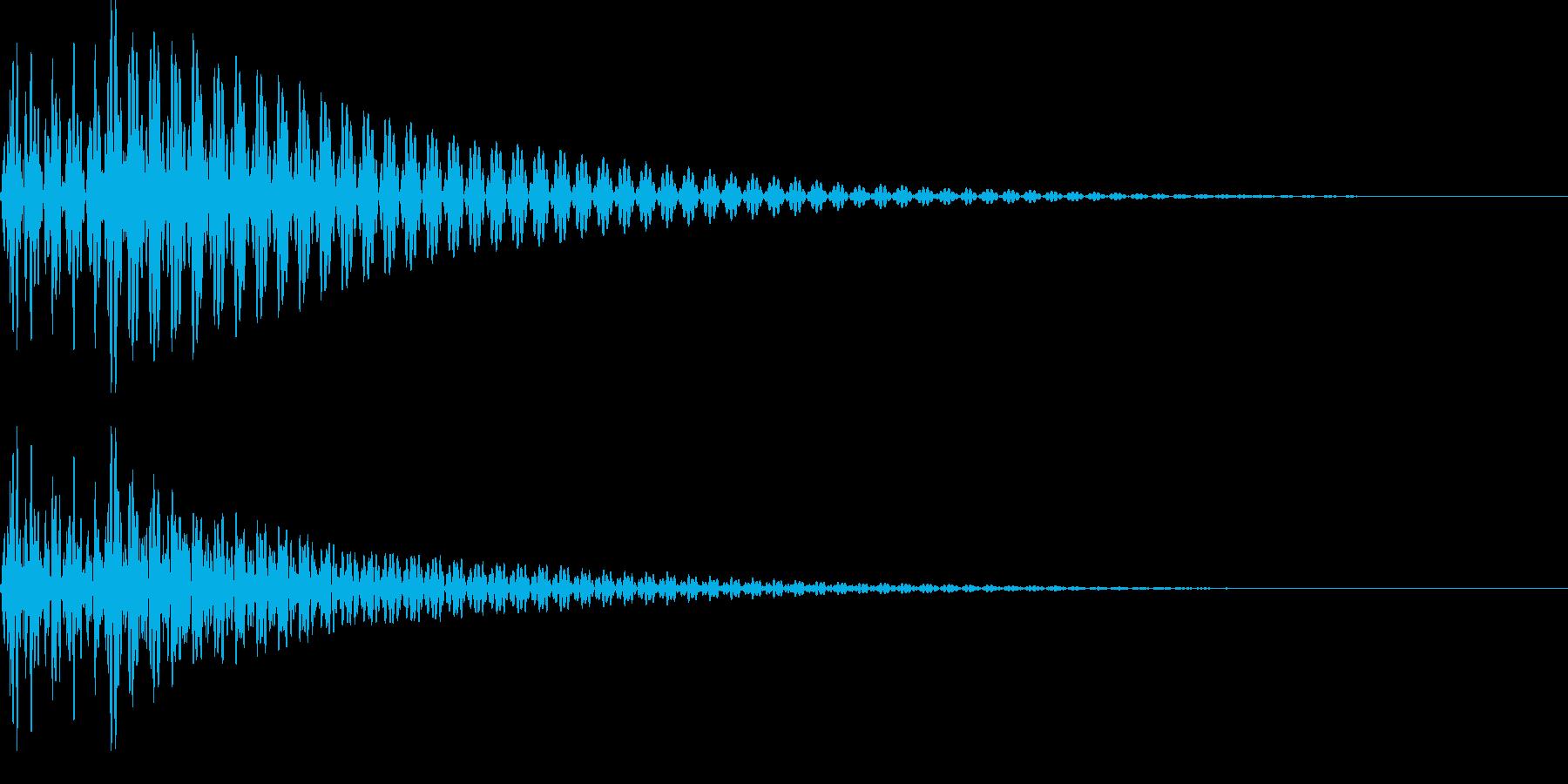 デデーン(がっかり、ハープ、ミス)の再生済みの波形