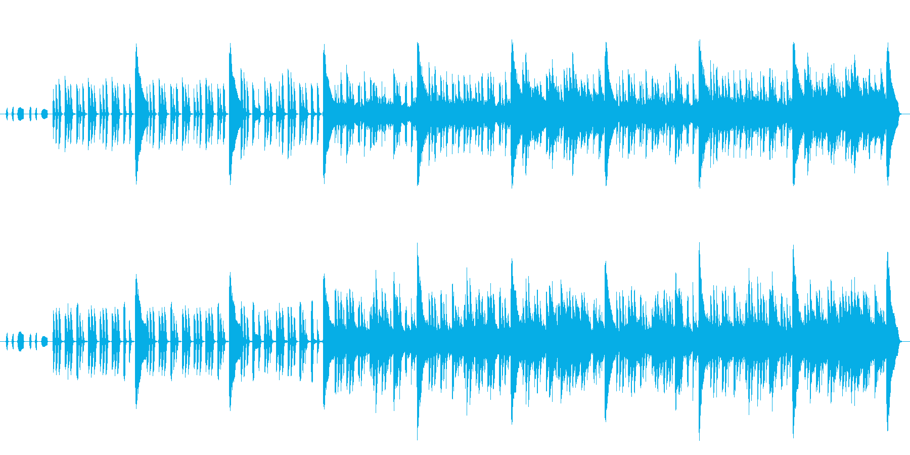 【メロディ抜き】のんびり+ノスタルジッ…の再生済みの波形