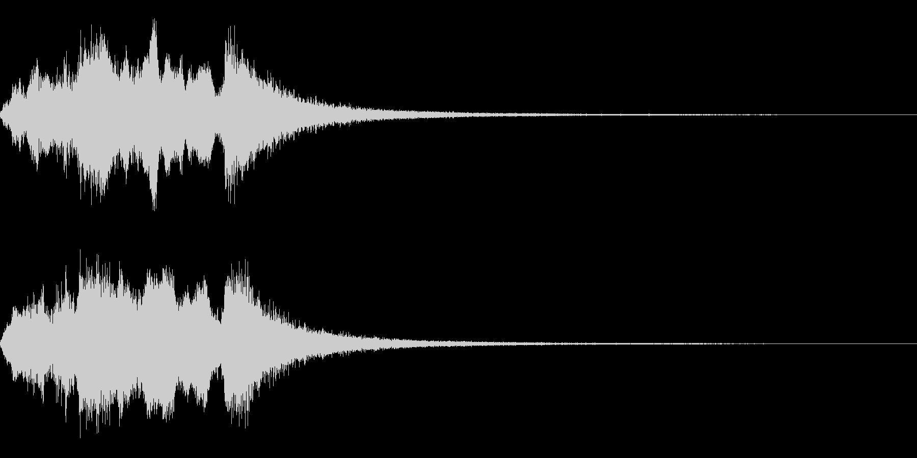 ブラスのファンファーレです。の未再生の波形