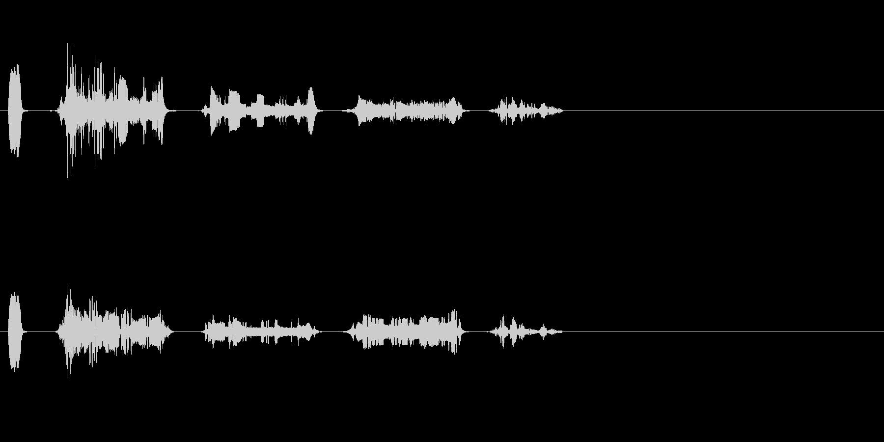 不思議な感じの電子音です。の未再生の波形