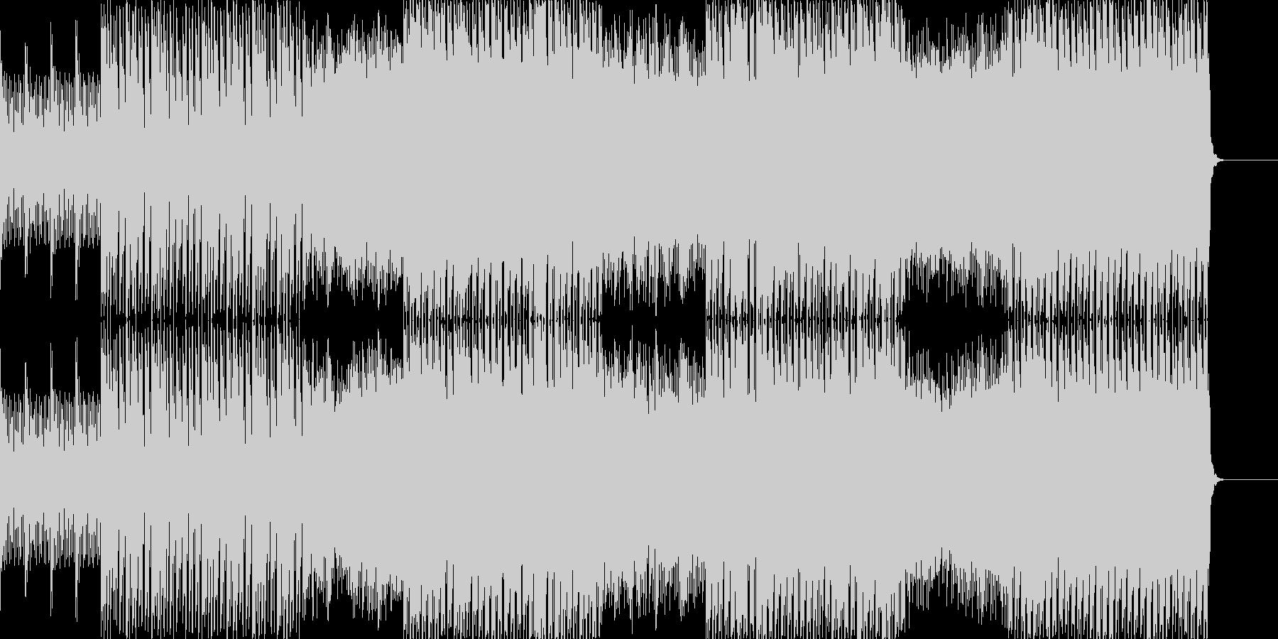 疾走感のあるエレクトリックな音楽の未再生の波形