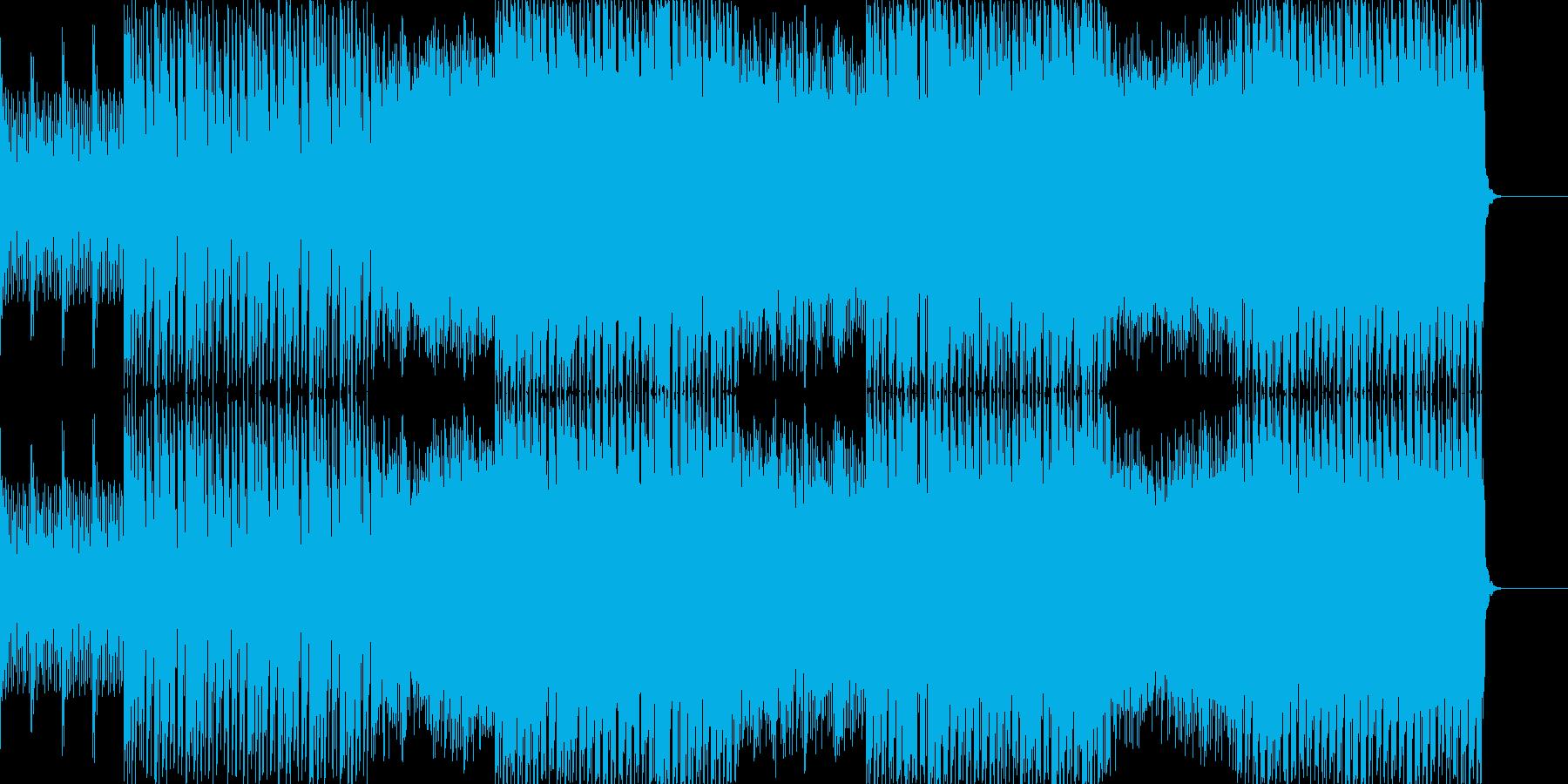 疾走感のあるエレクトリックな音楽の再生済みの波形