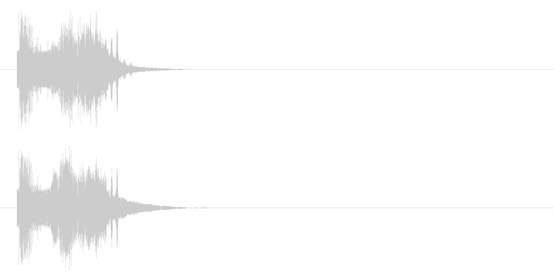 斬撃音(剣やナイフなどの軽い武器で攻撃)の未再生の波形
