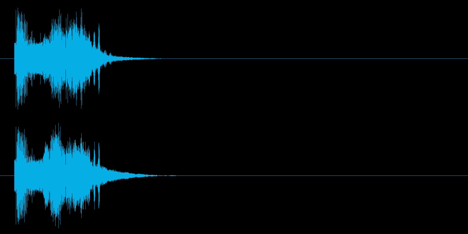 斬撃音(剣やナイフなどの軽い武器で攻撃)の再生済みの波形