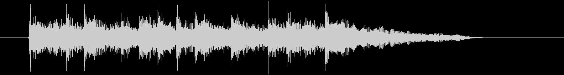 オルゴールのような落ち着きのあるバラードの未再生の波形