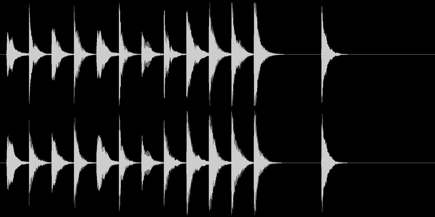 弦楽四重奏のピチカートのかわいいジングルの未再生の波形