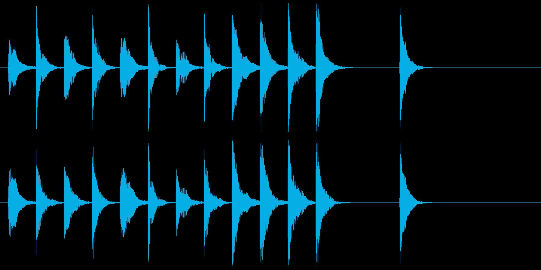 弦楽四重奏のピチカートのかわいいジングルの再生済みの波形
