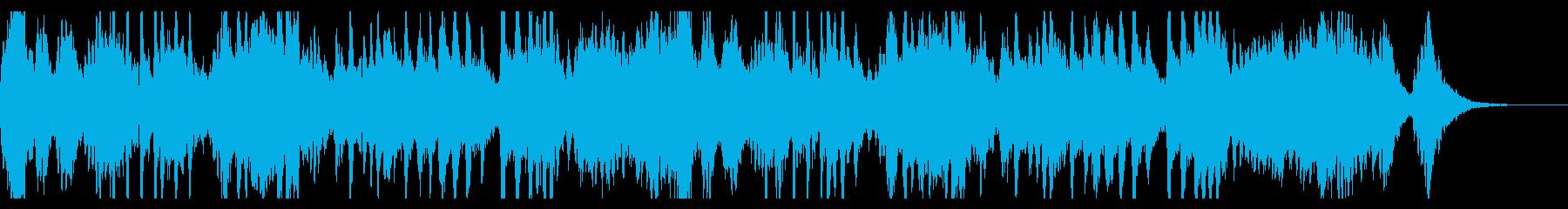 ホラーな近未来的BGMの再生済みの波形