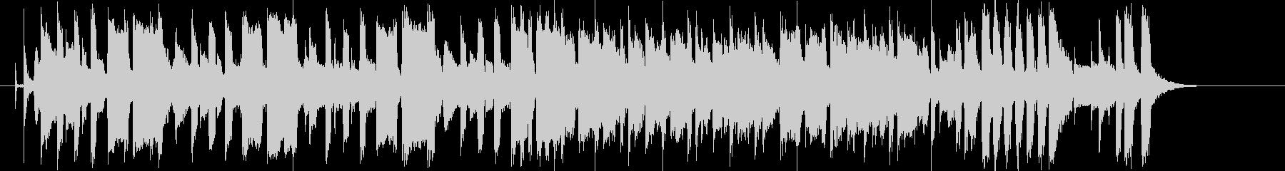 ホーンのメロディがさわやかなシンセポップの未再生の波形