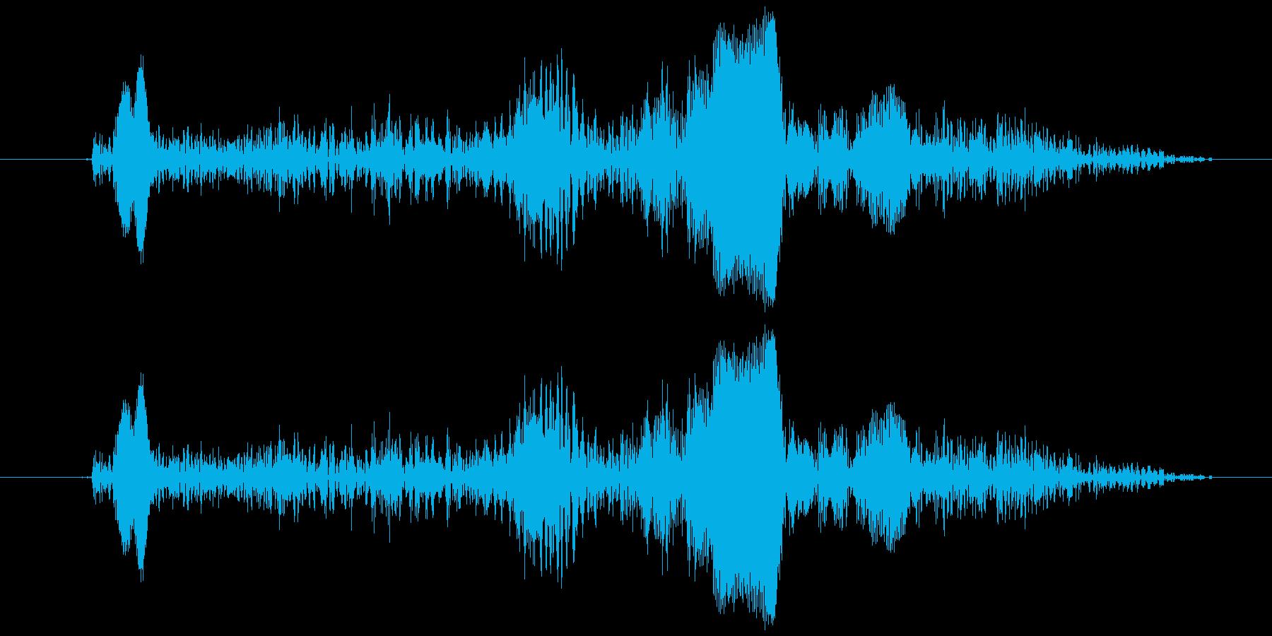 キュッ、キュッ、というやすりをかける音…の再生済みの波形