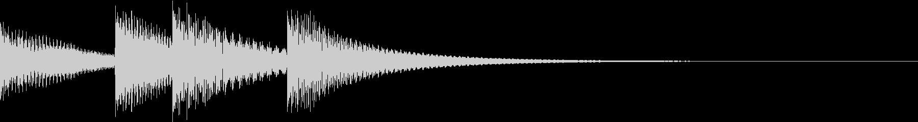 シンプルベル お知らせ ハテナ ? 18の未再生の波形