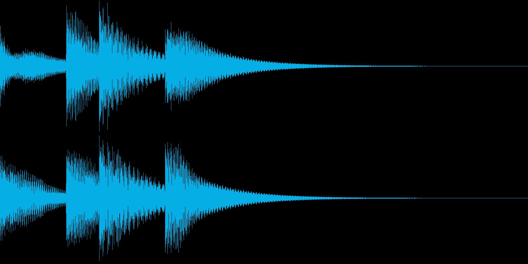 シンプルベル お知らせ ハテナ ? 18の再生済みの波形