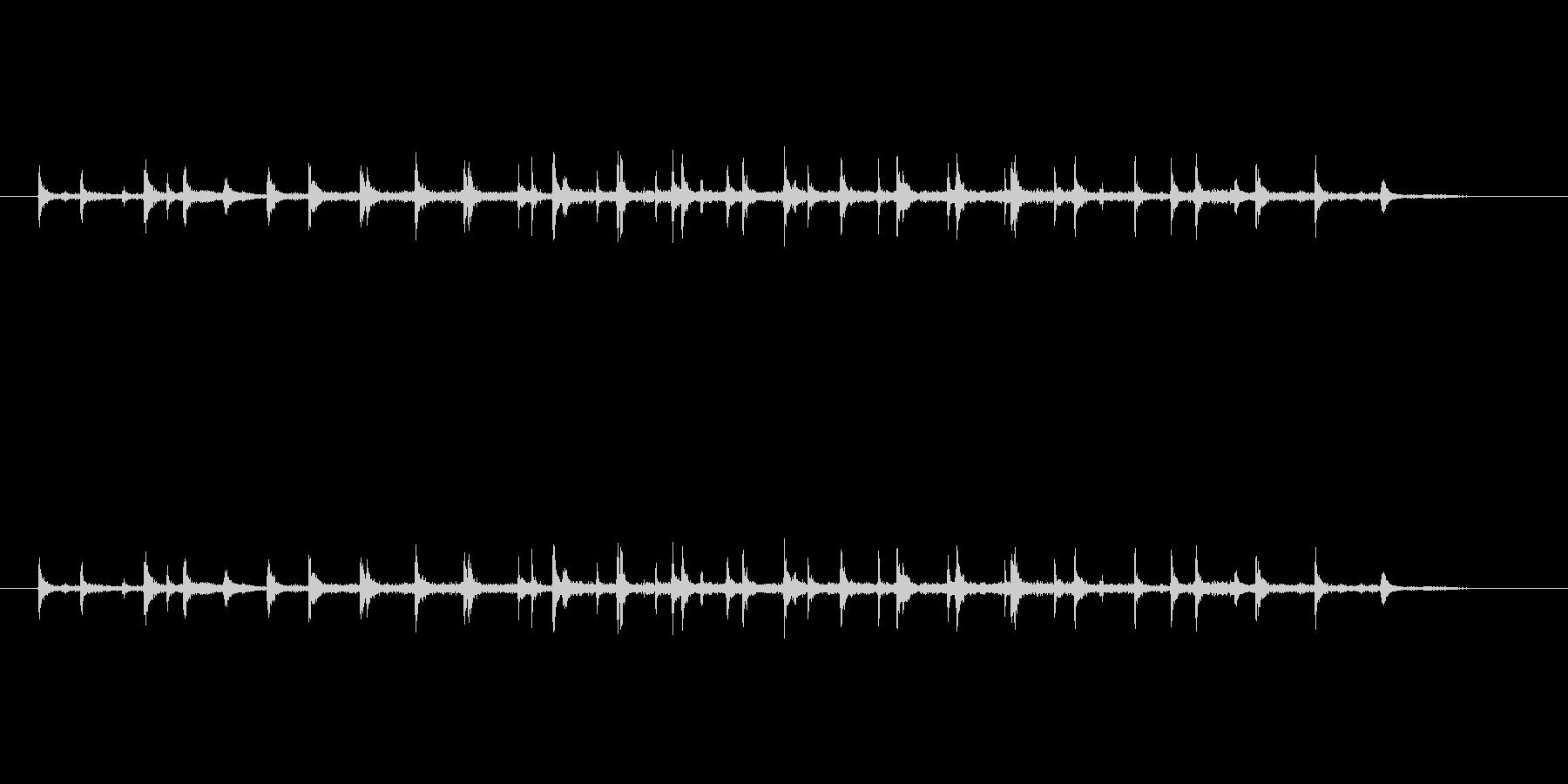 3人の拍手の未再生の波形