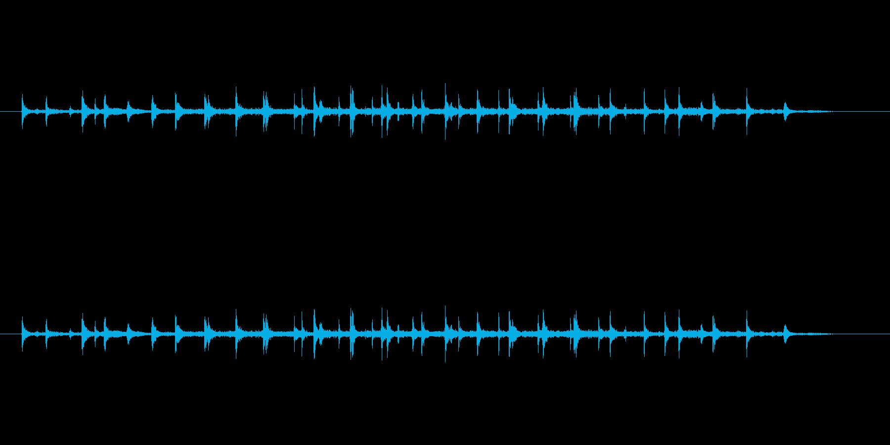 3人の拍手の再生済みの波形