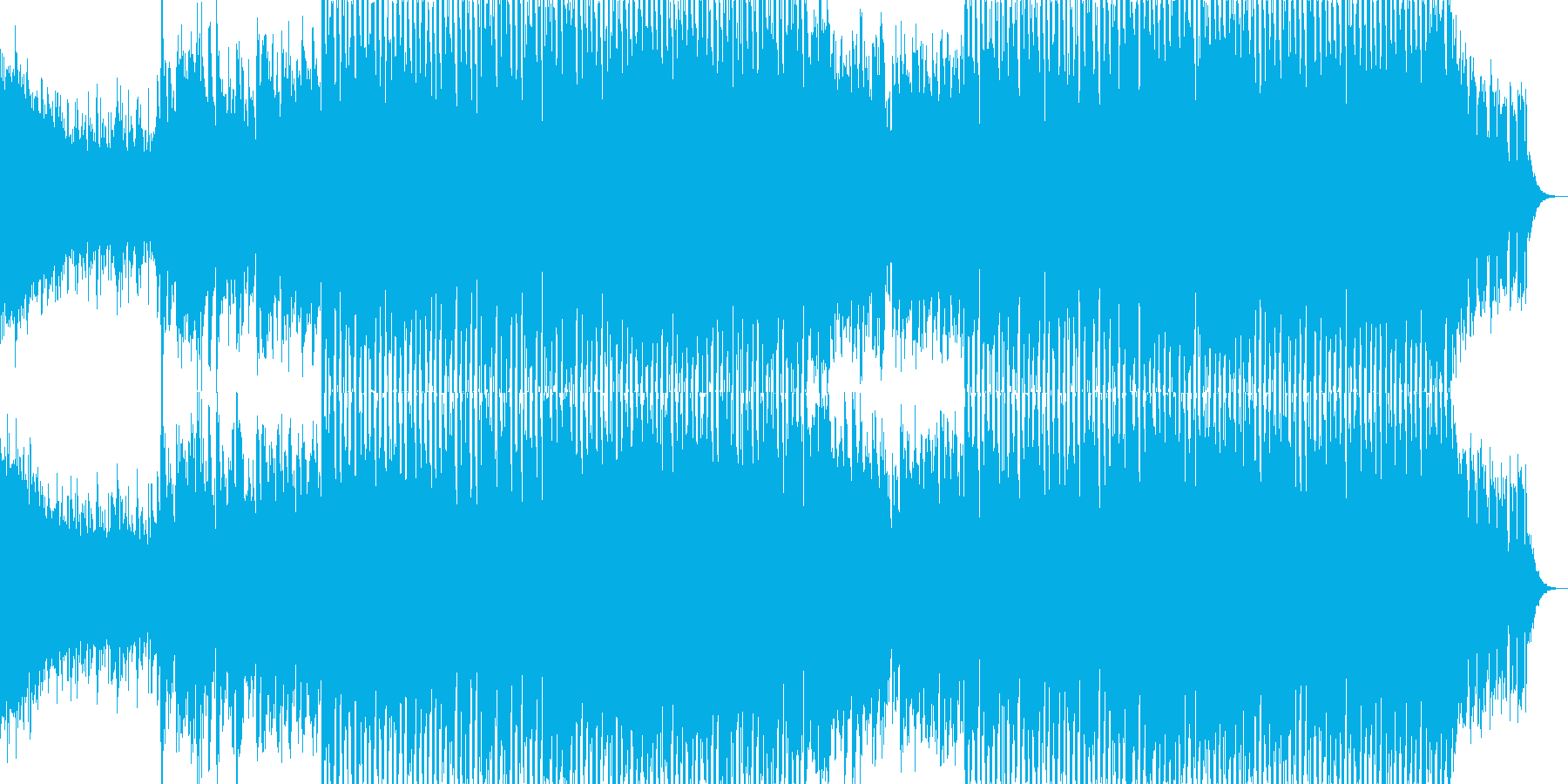 EDMクラブ系ダンスミュージック-80の再生済みの波形
