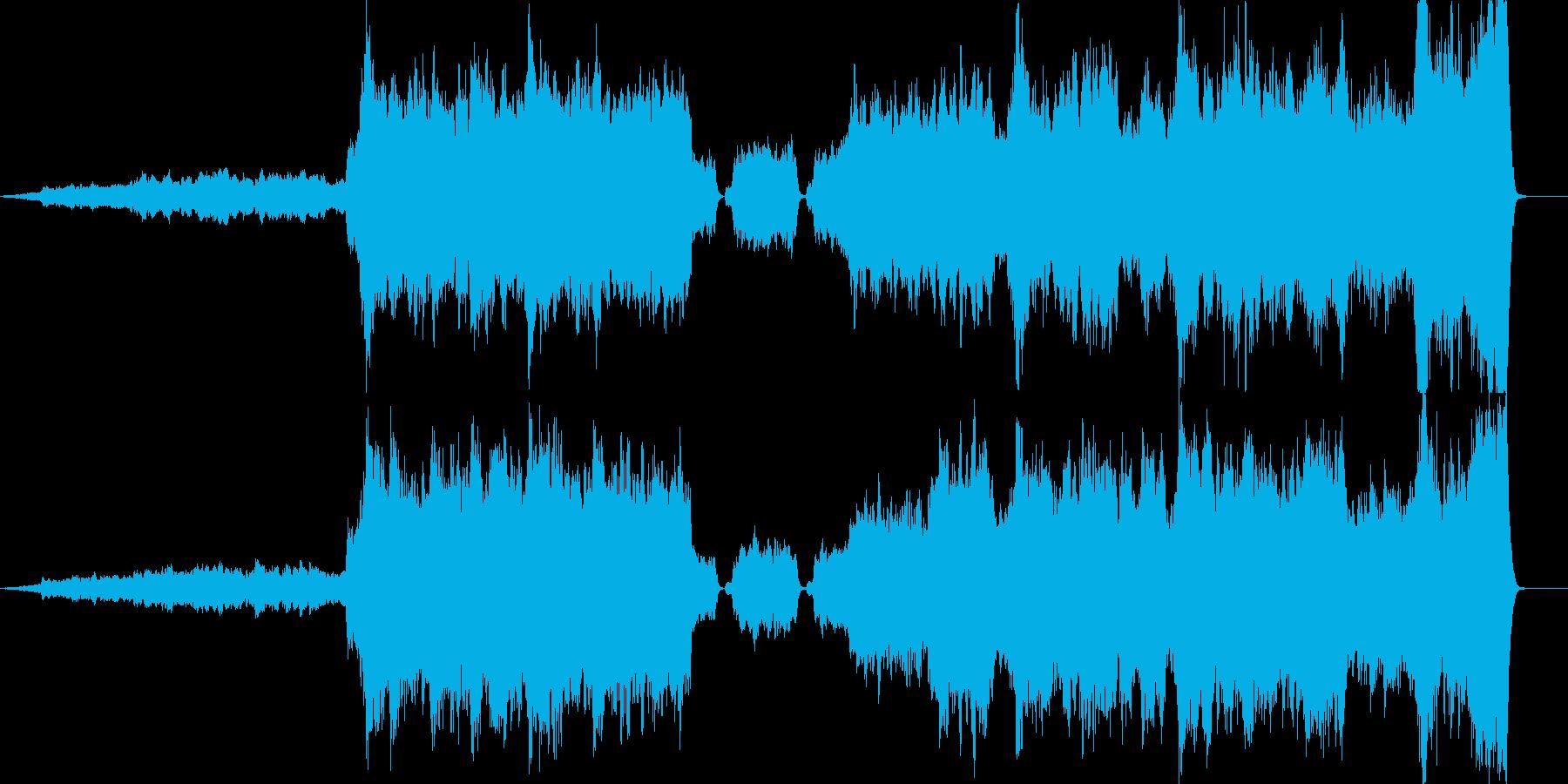映画のエンディング風のオーケストラ曲の再生済みの波形