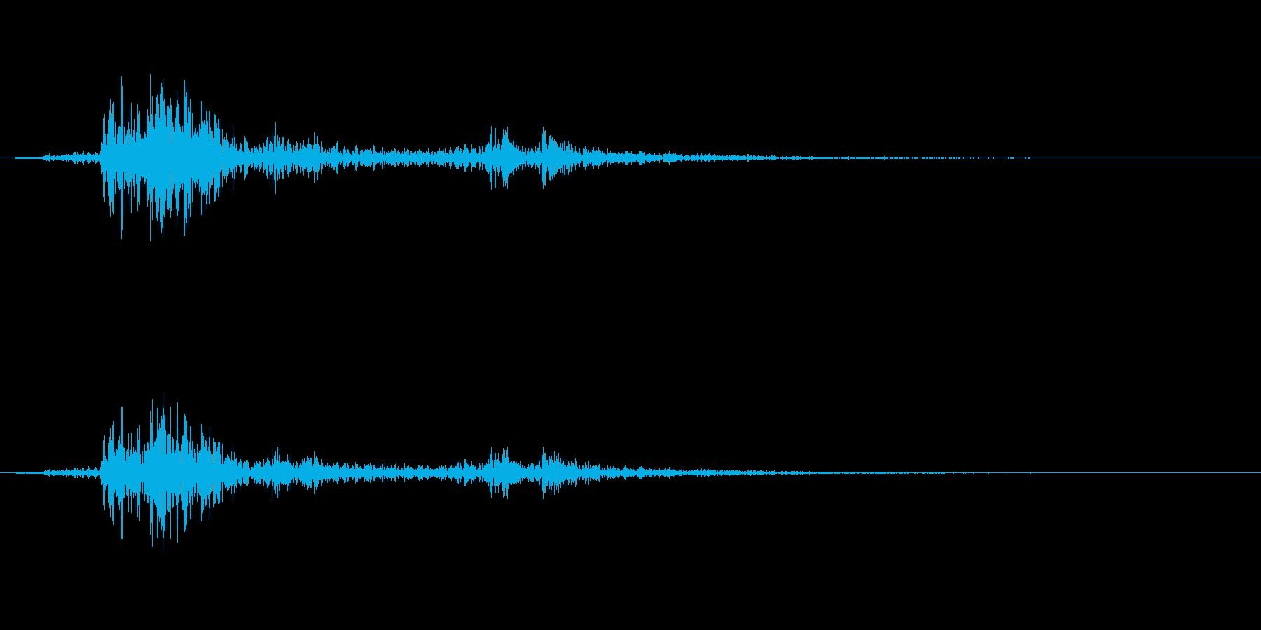 【雷 生録 環境03-2】の再生済みの波形