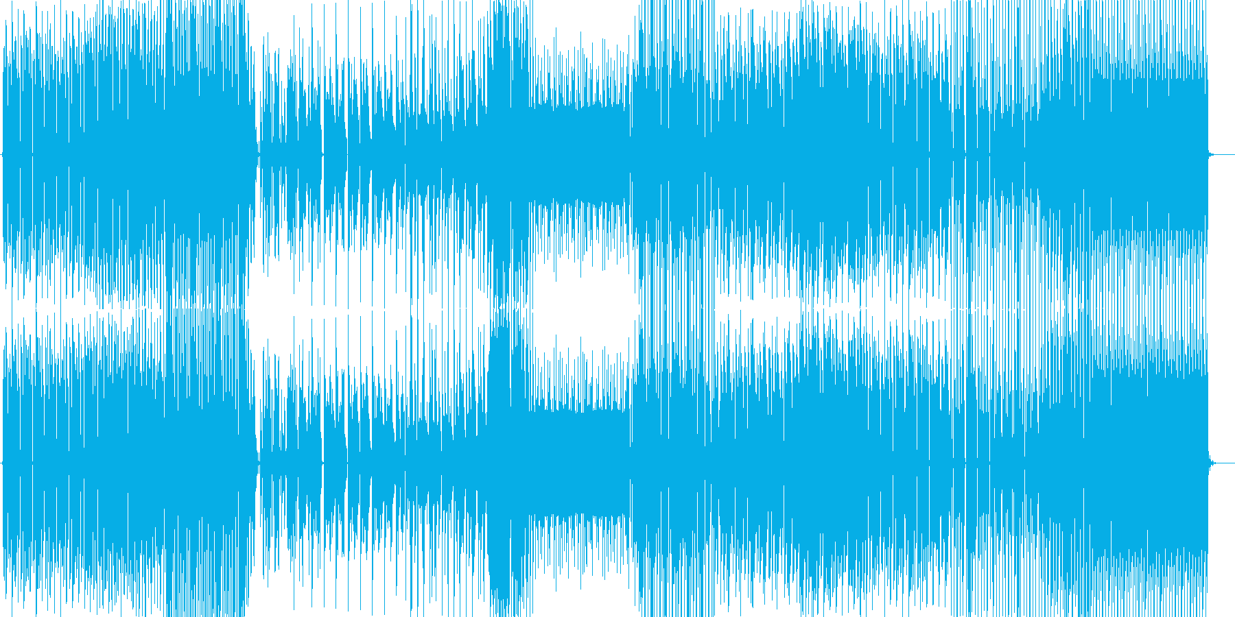 クラブダンス曲ですの再生済みの波形