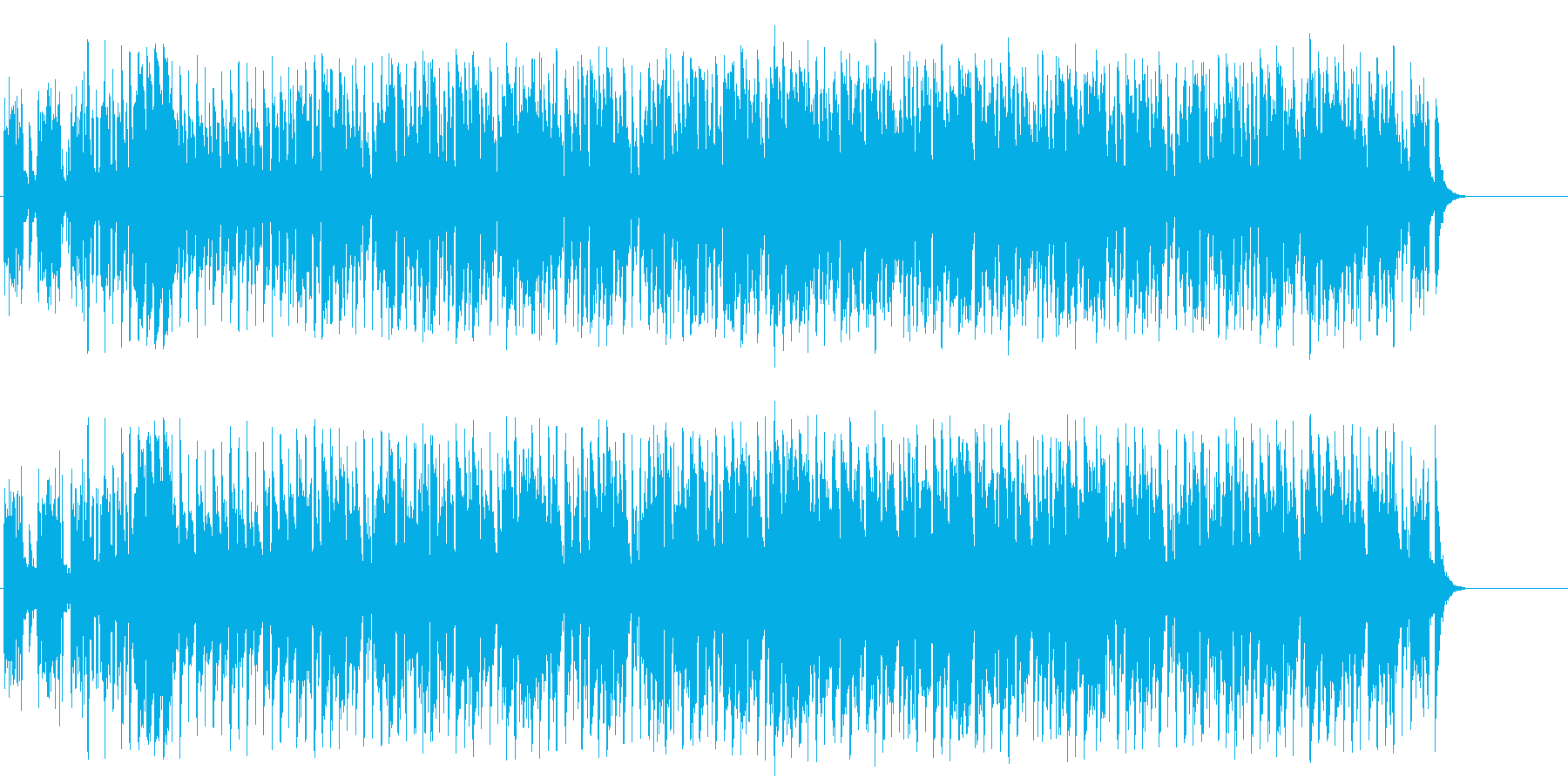 アニメ風の元気で軽快なコミカルポップの再生済みの波形