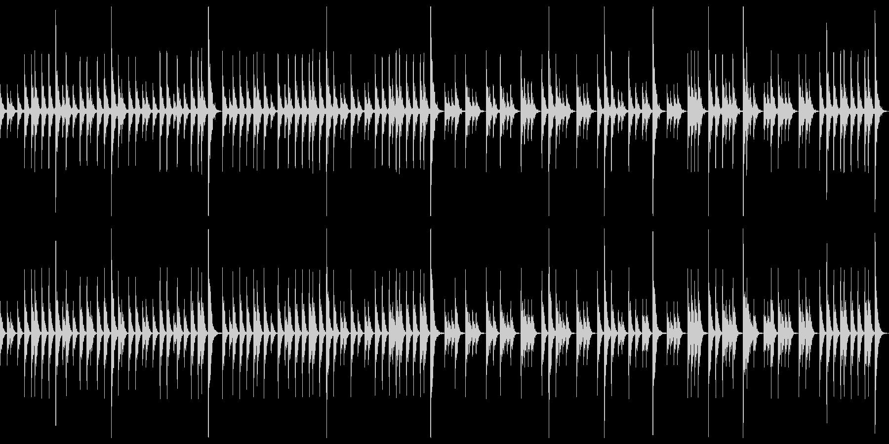 締太鼓ソロ スローの未再生の波形