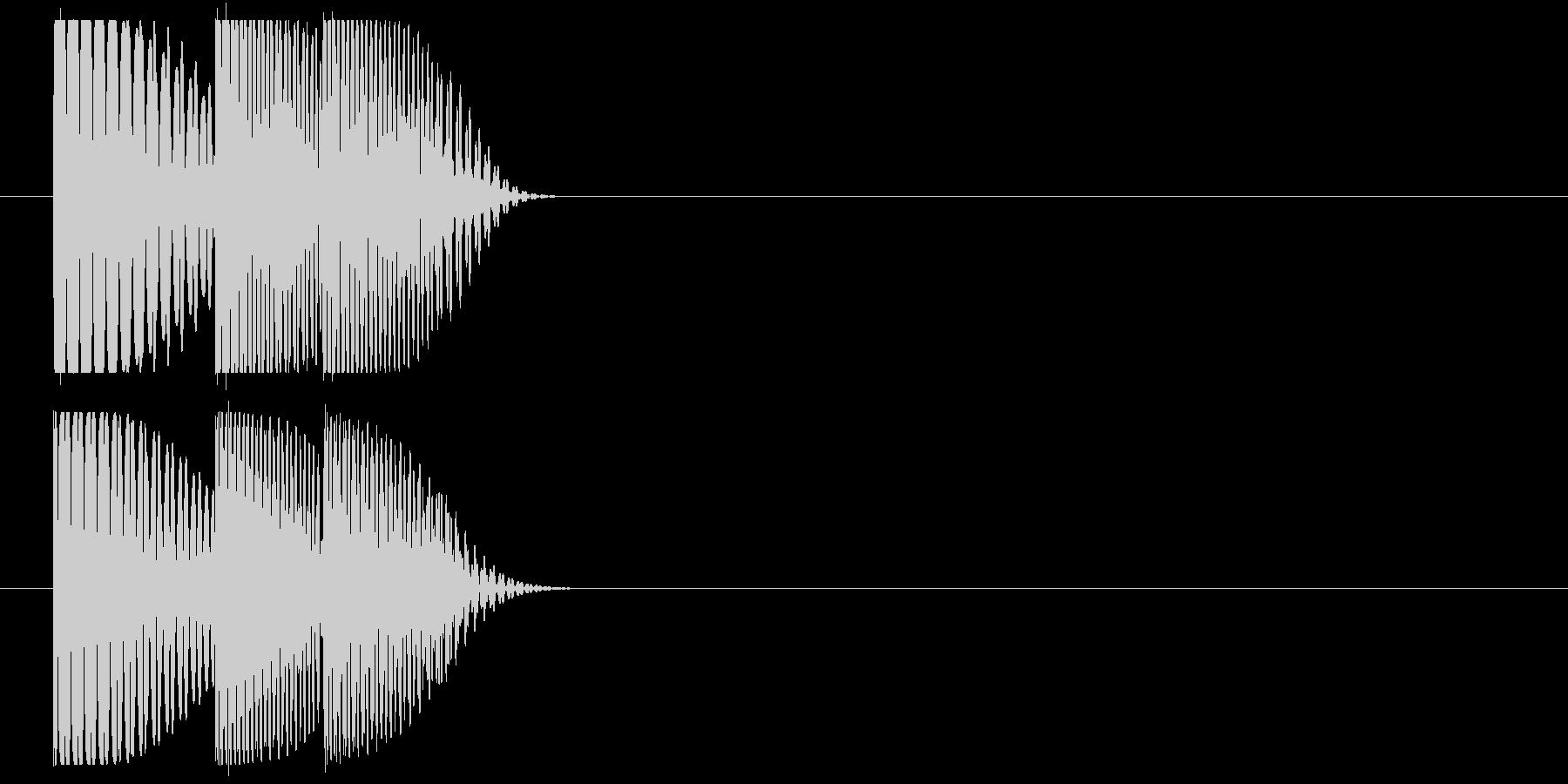 ドゥンドゥドンの未再生の波形