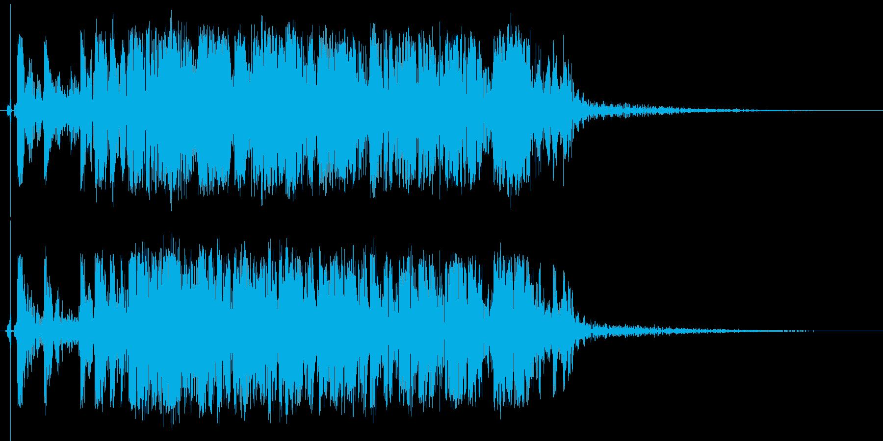 ドンパァ〜!リアルな連続花火の効果音!1の再生済みの波形