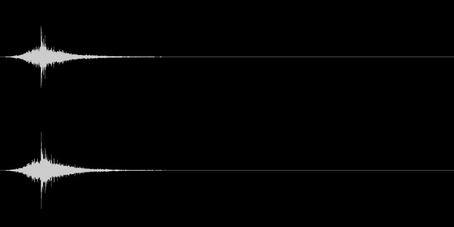 スキル修得/レベルアップ/刀/シャキーンの未再生の波形