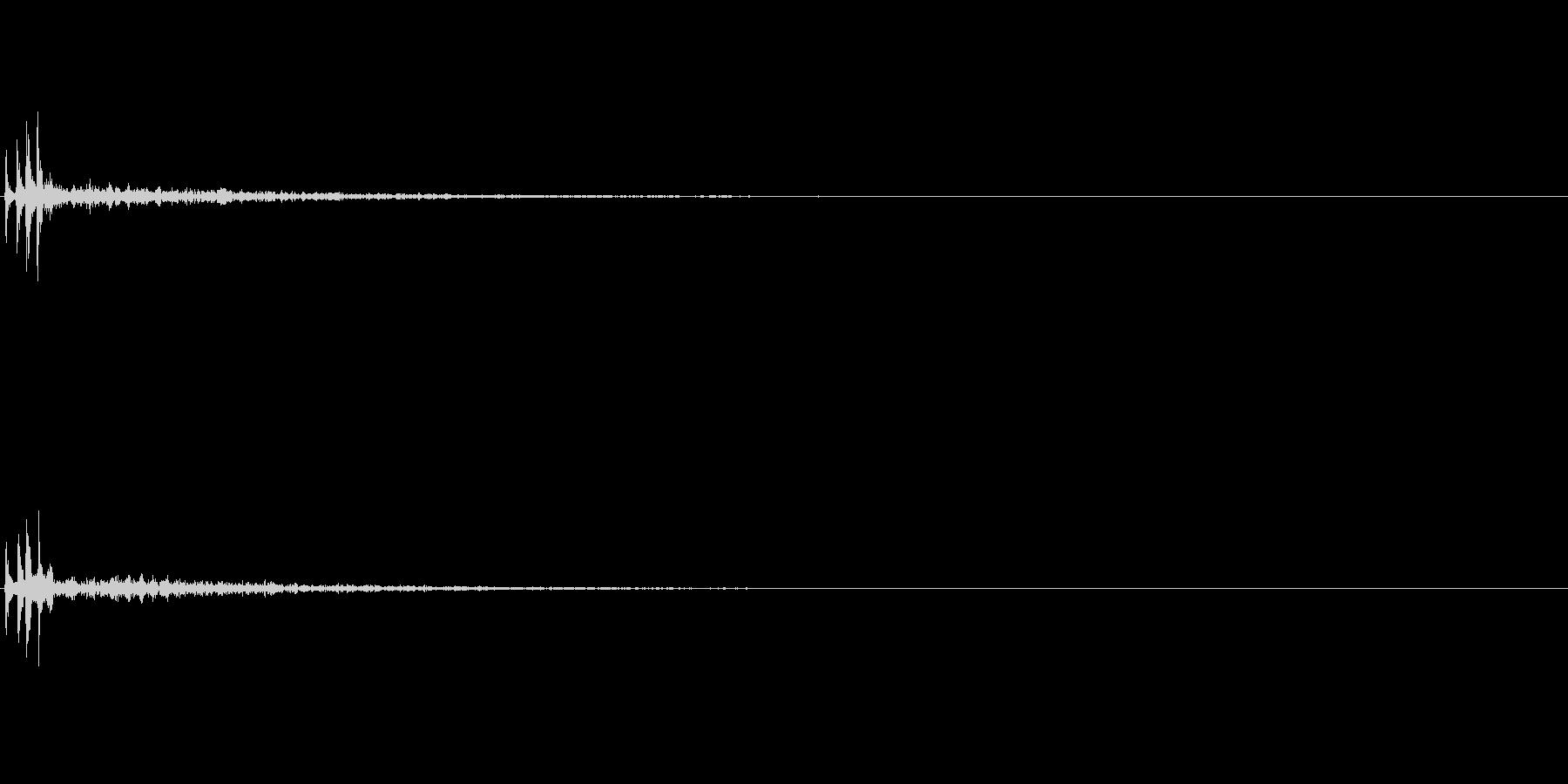 ぱこ〜ん(ゲーム・アプリ等の決定音)の未再生の波形