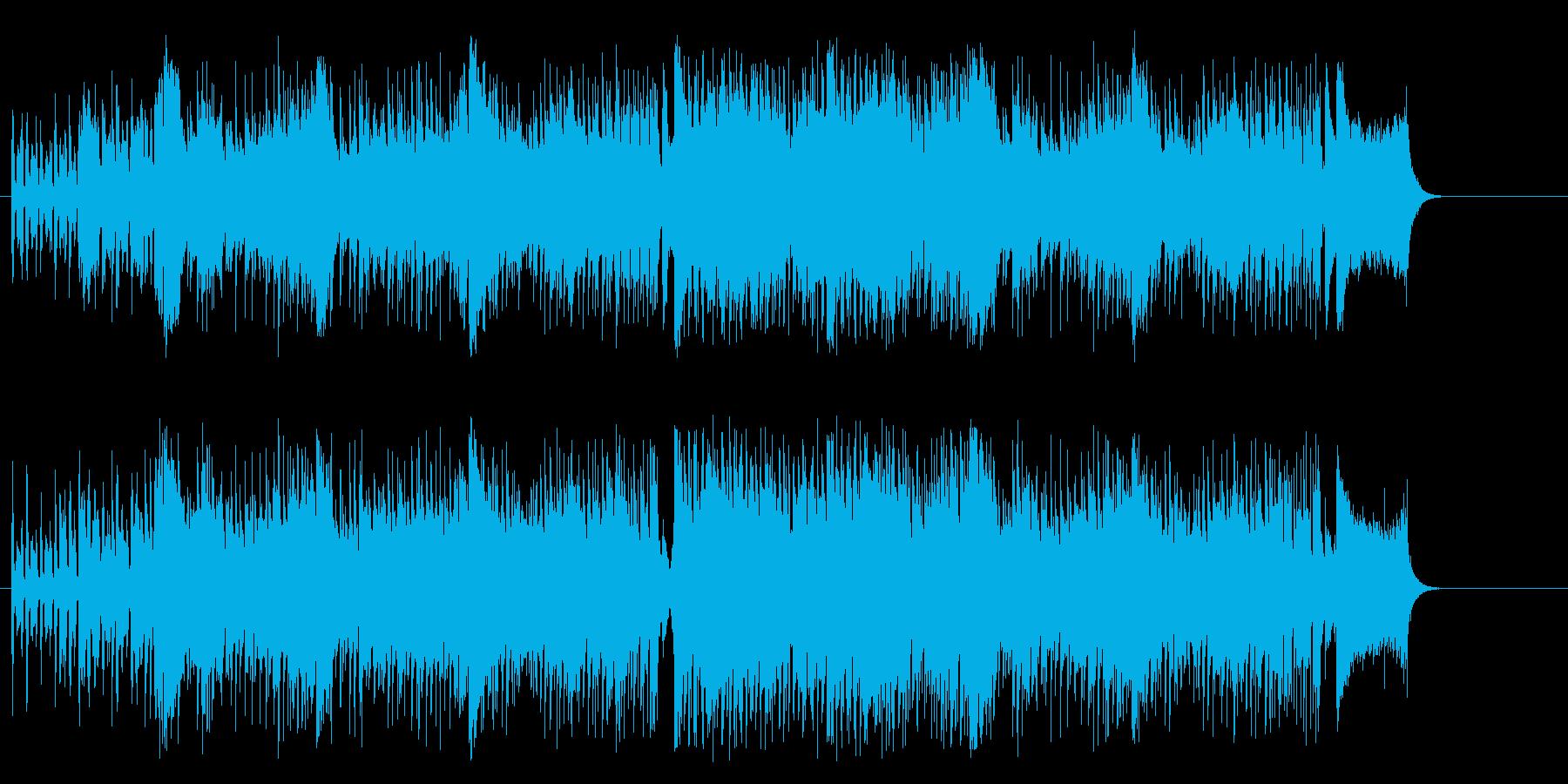 追跡劇風のスリル感溢れるテクノ/ファンクの再生済みの波形