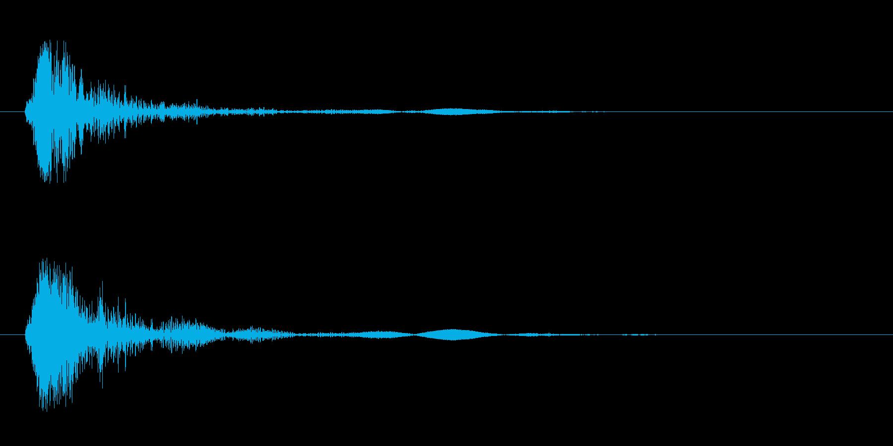 バシュッ(球が跳ねたような打音)の再生済みの波形