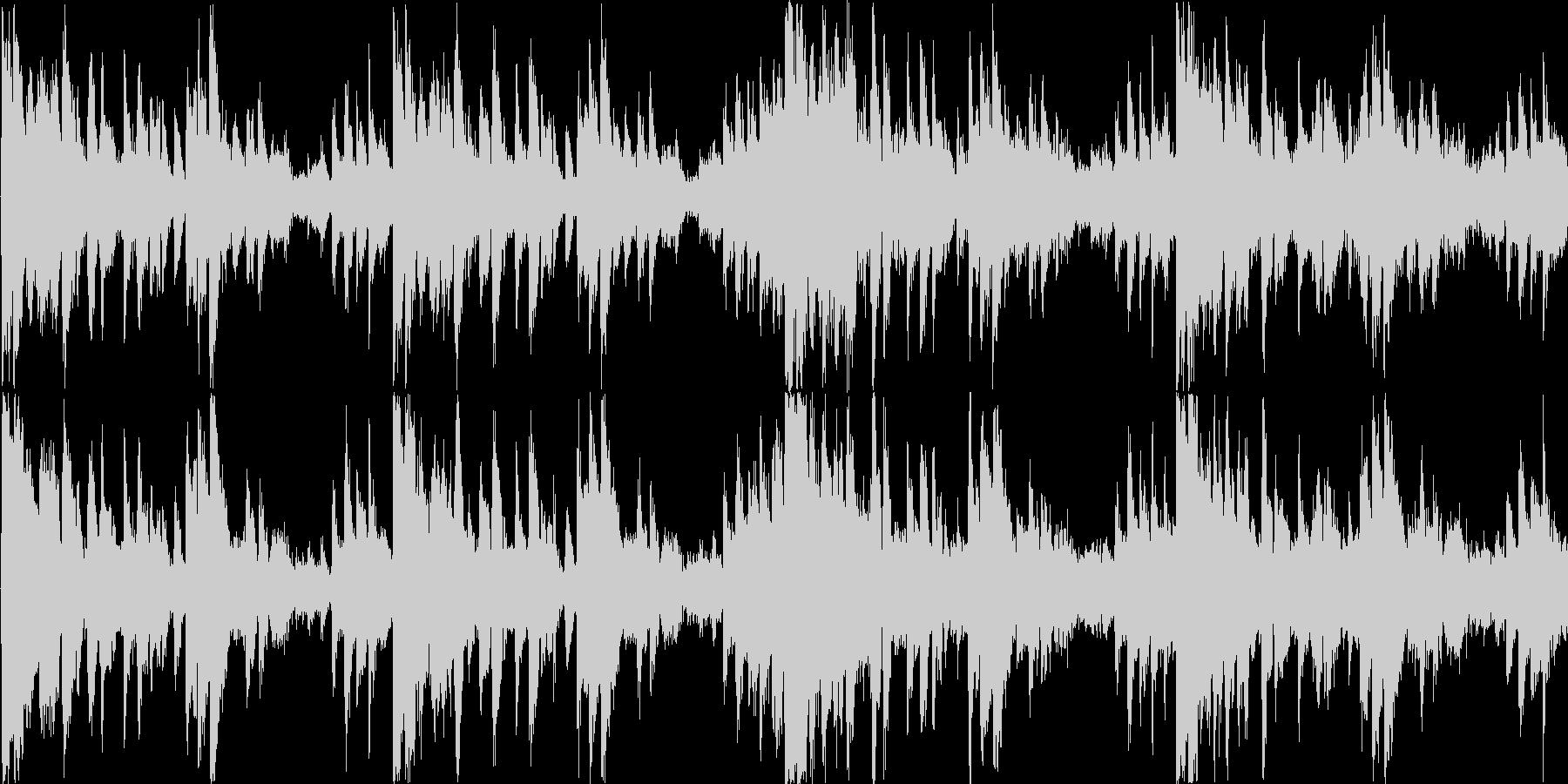 不安を感じる楽曲の未再生の波形