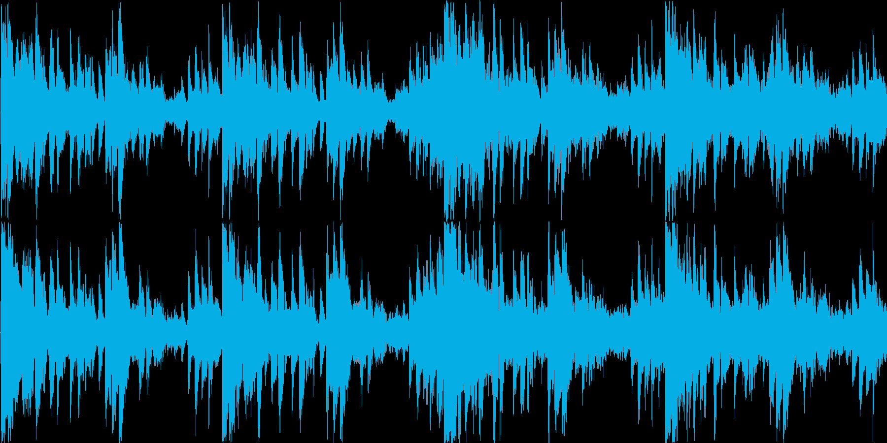 不安を感じる楽曲の再生済みの波形
