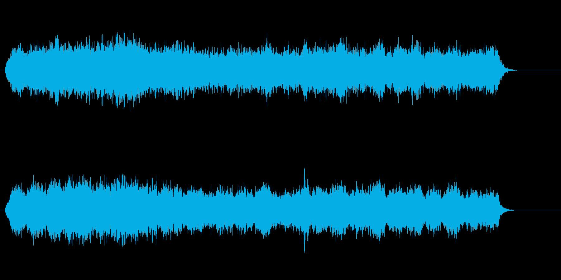 粒子の輝き風アンビエント・ミュージックの再生済みの波形
