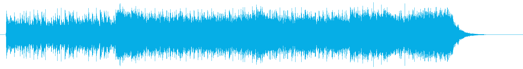 ダークでマイナーなシンセジングルの再生済みの波形