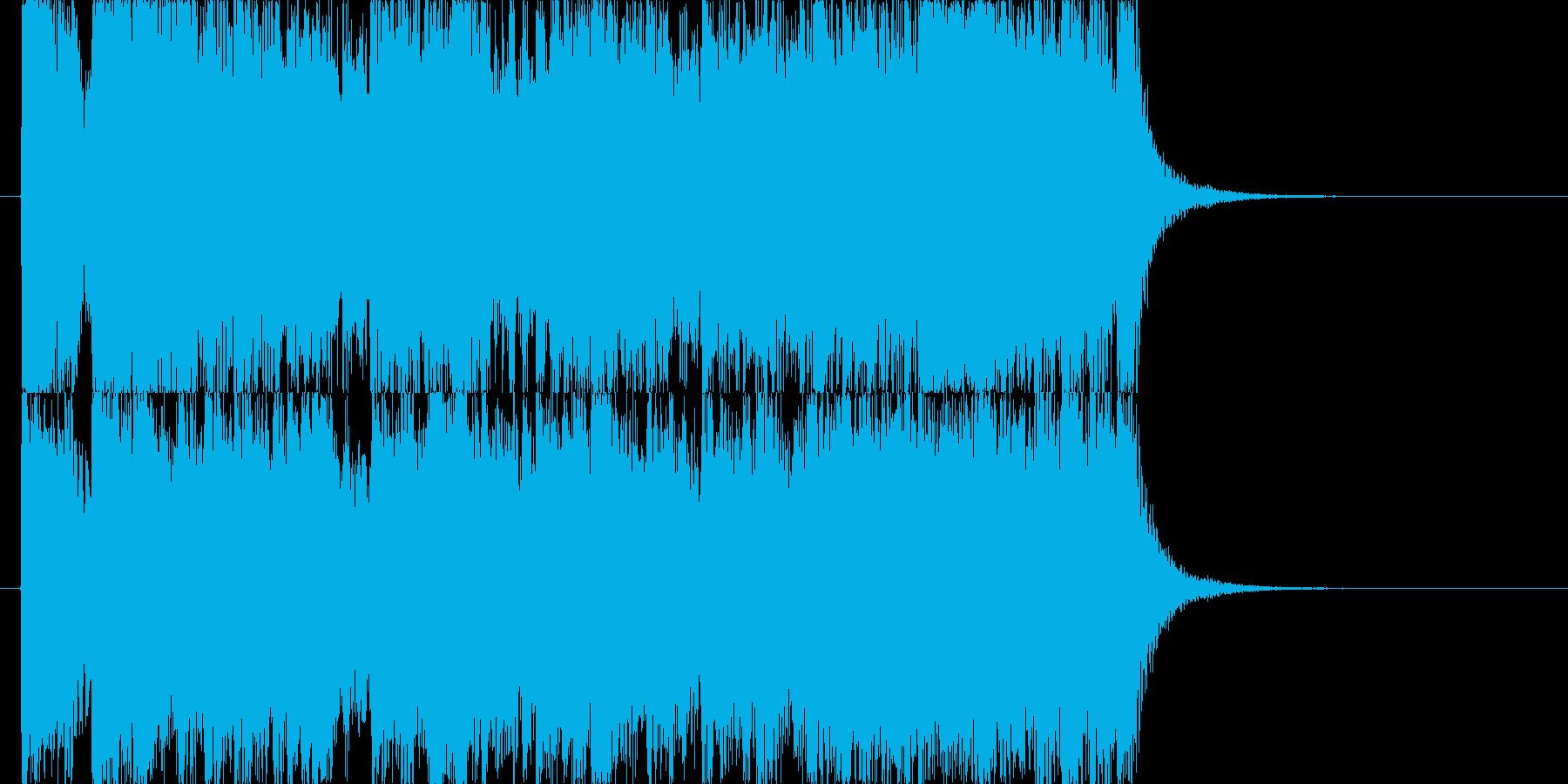 疾走する賑やかではちゃめちゃ感のBGMの再生済みの波形