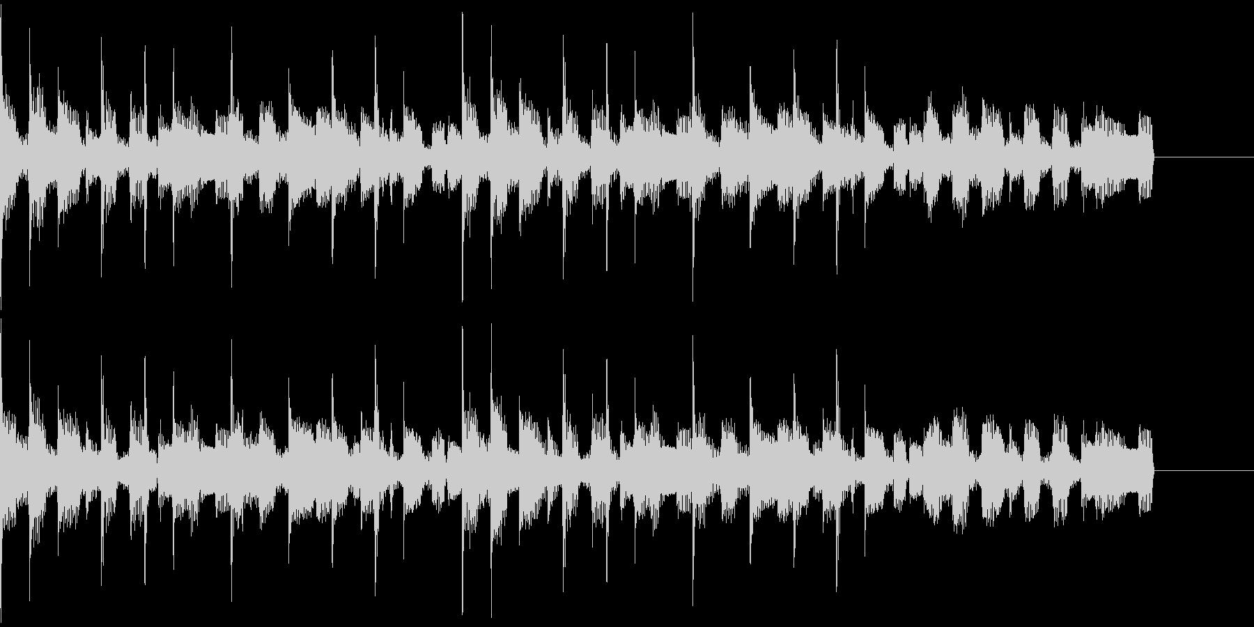 ジャズテイストのBGMの未再生の波形
