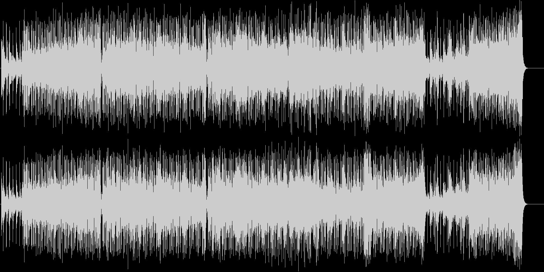 ストレートでダイナミックなアジッドジャズの未再生の波形