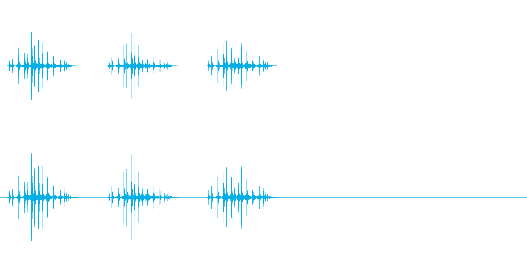 ギリギリギリ(リールを巻く、三回、釣り)の再生済みの波形