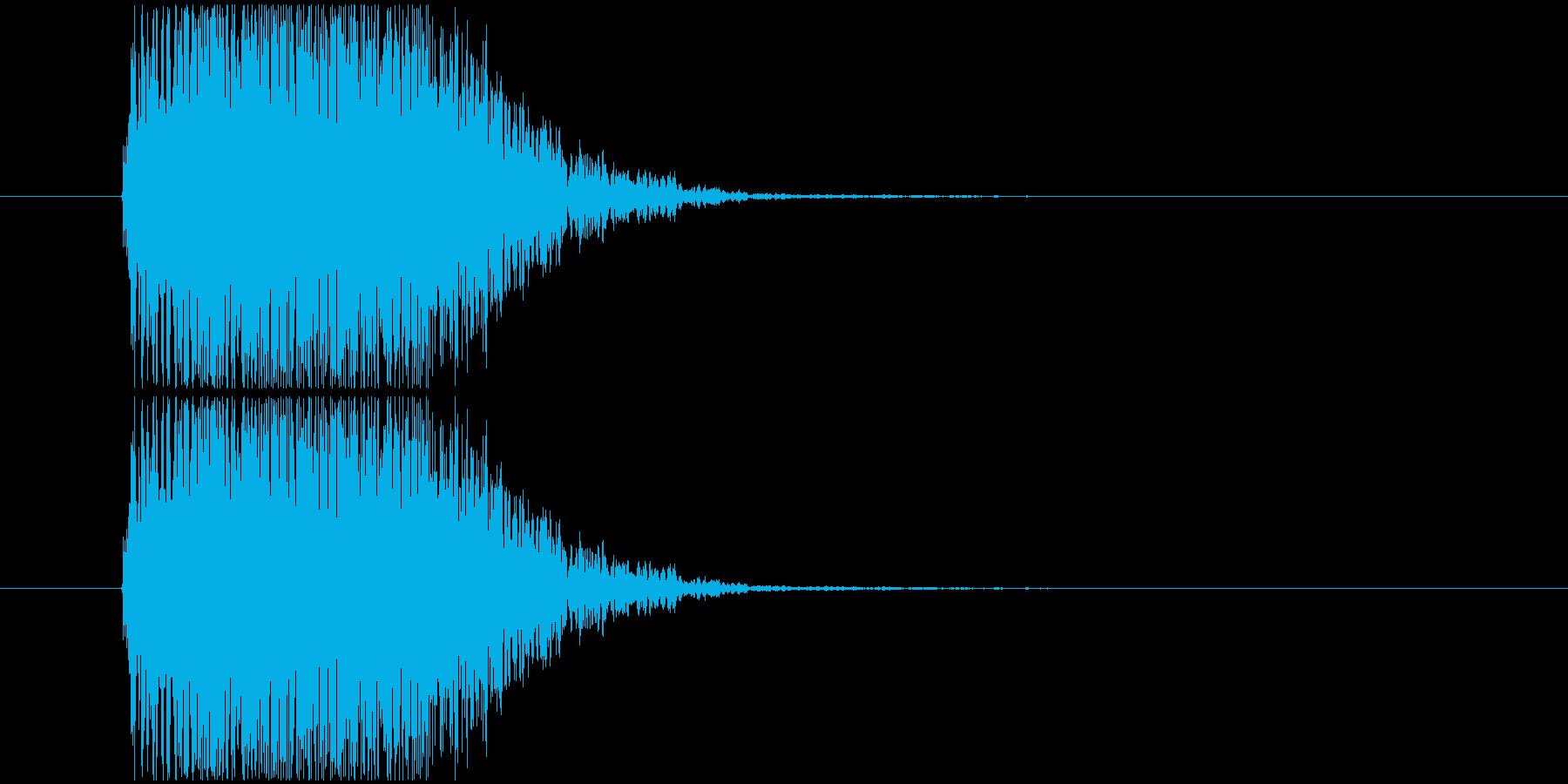 強烈な打撃SEの再生済みの波形