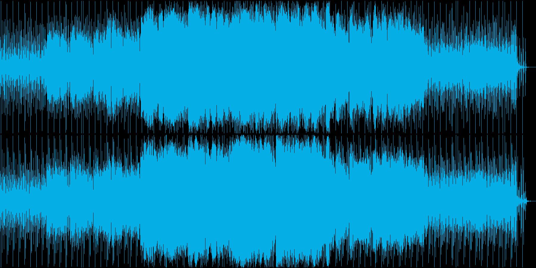 ふわふわしたイメージのBGMの再生済みの波形
