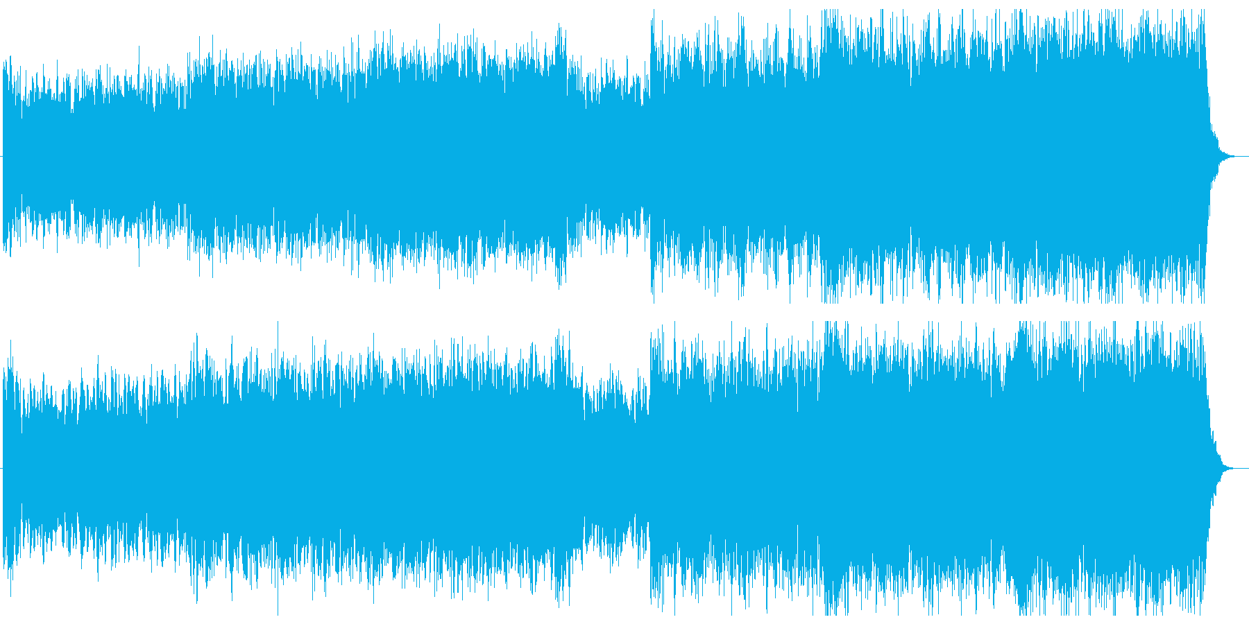 シンセとストリングスのサイバーな映像音楽の再生済みの波形