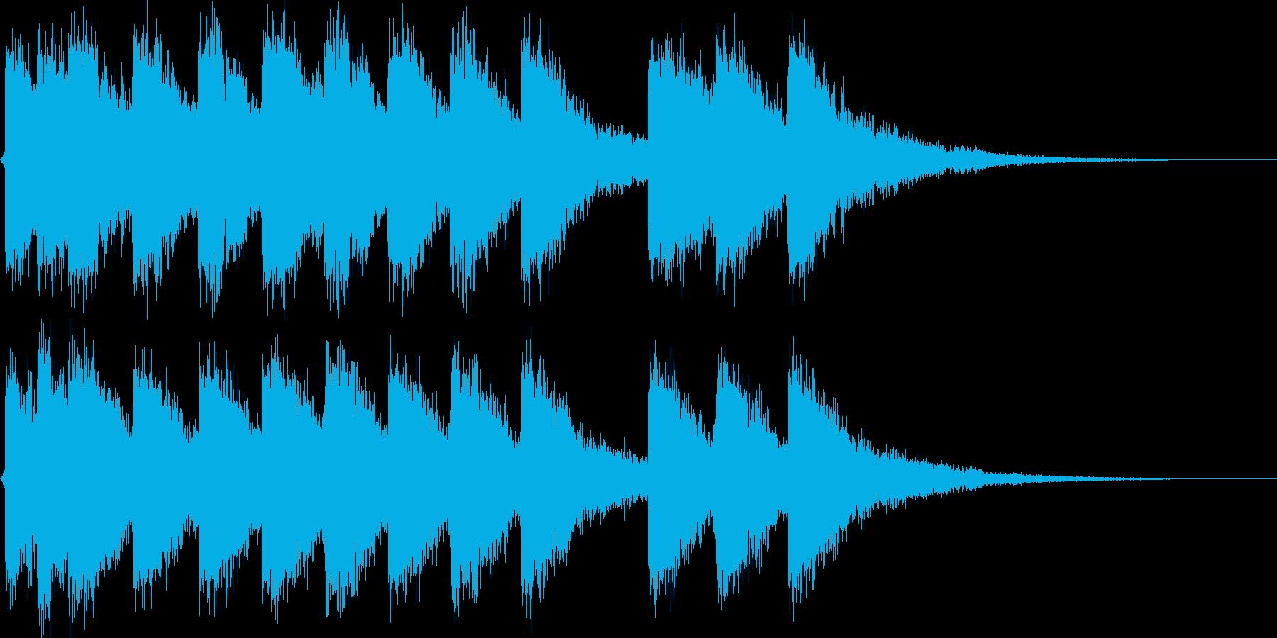 ネオアジアンロゴの再生済みの波形
