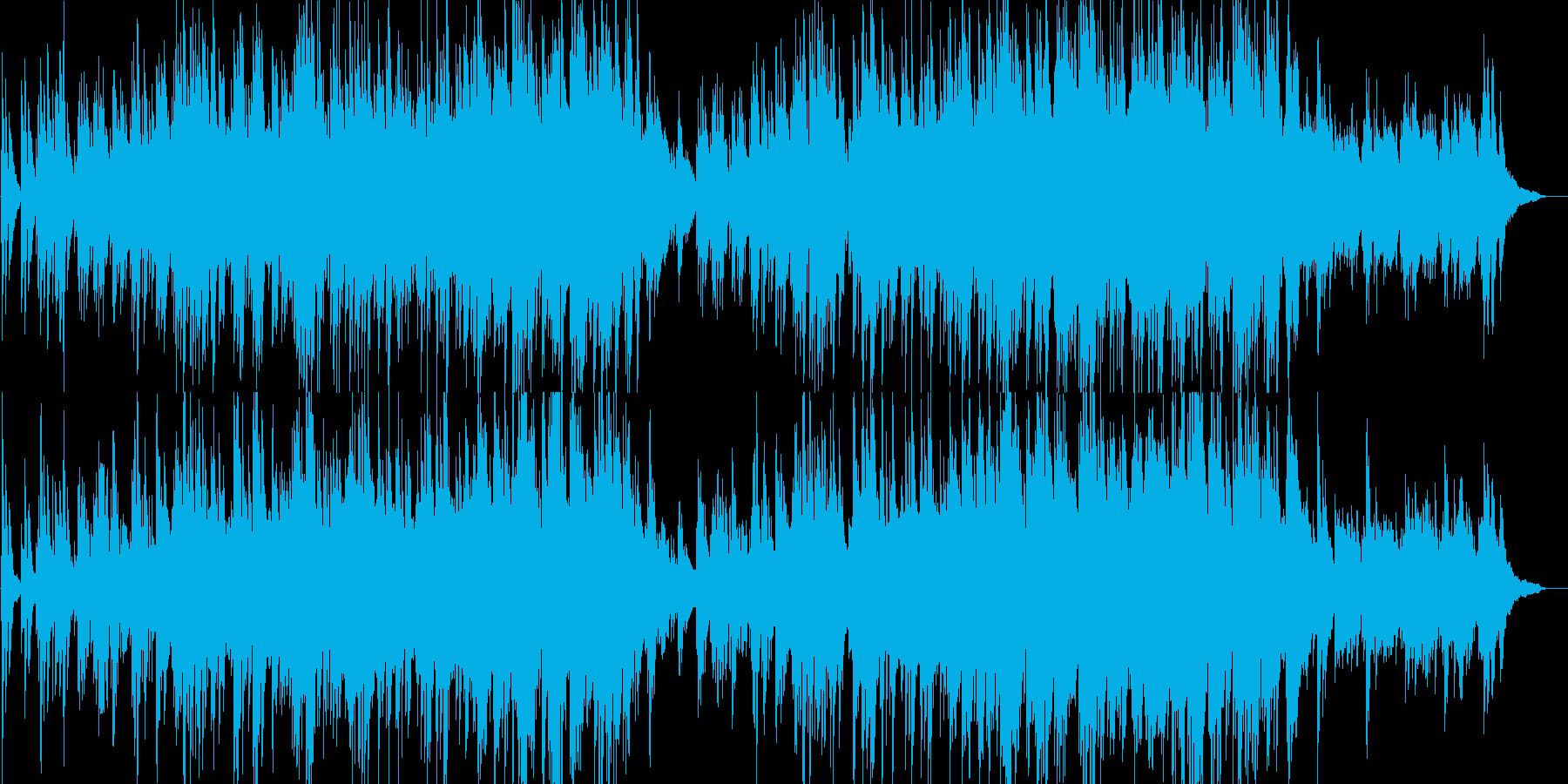 感動的・映像・解説・ナレーション用の再生済みの波形