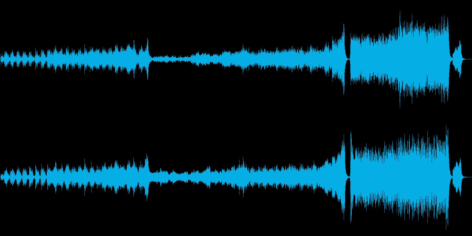 夜空 流星をイメージしたオーケストラの再生済みの波形