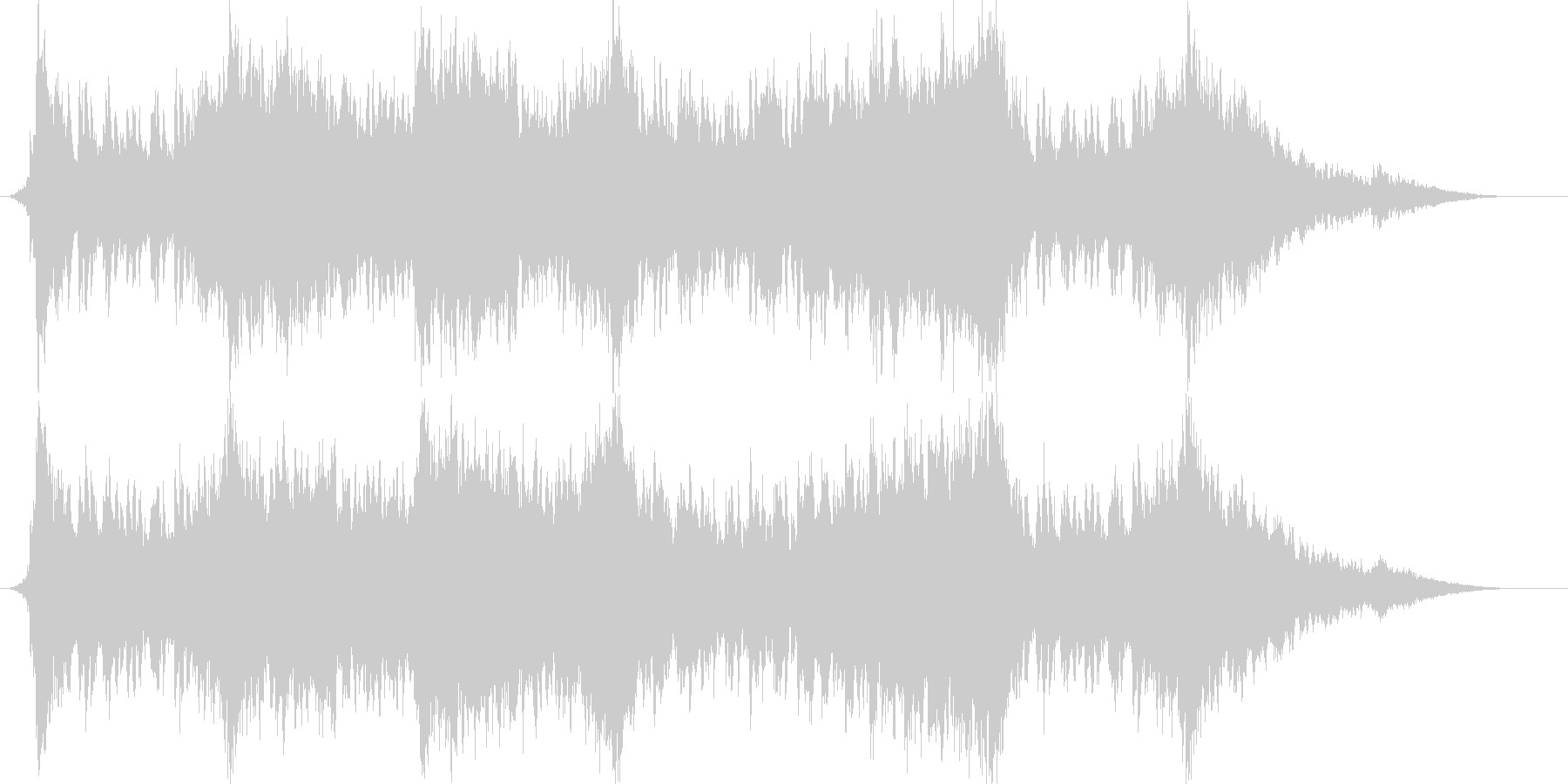 対戦結果画面で流れていそうな曲の未再生の波形