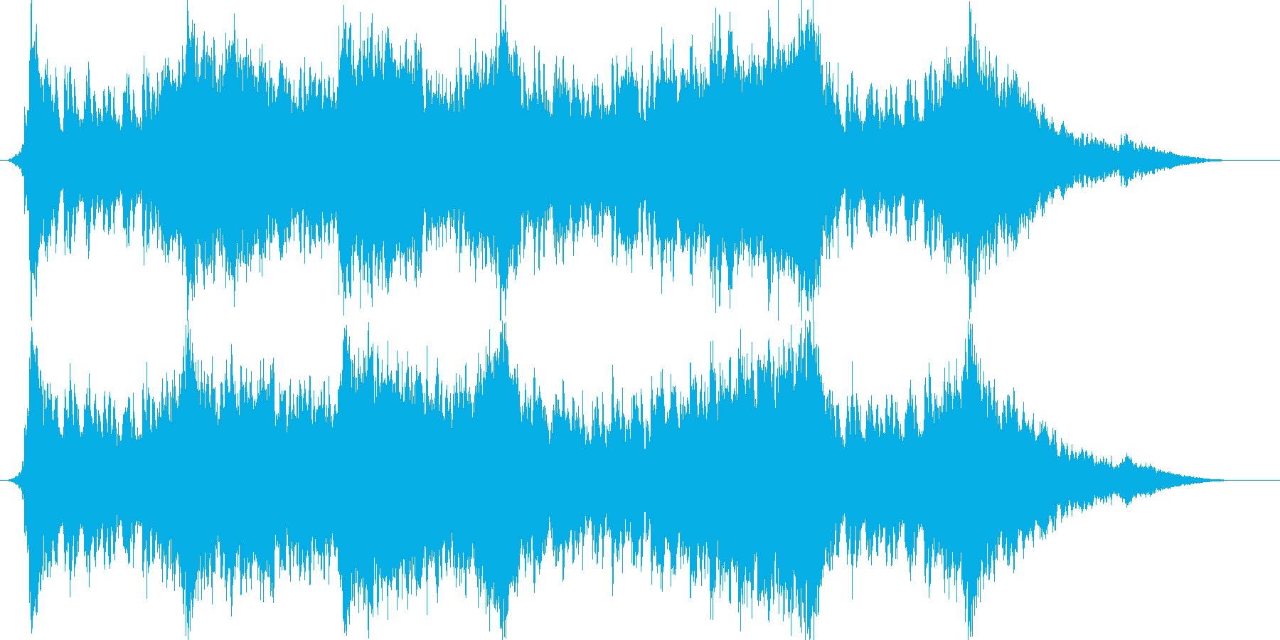 対戦結果画面で流れていそうな曲の再生済みの波形
